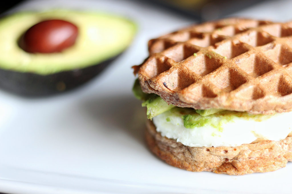 Egg White and Avocado Wafflewich