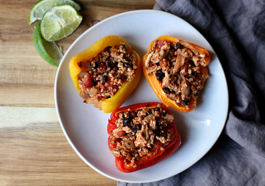 Fiesta Lime Stuffed Peppers