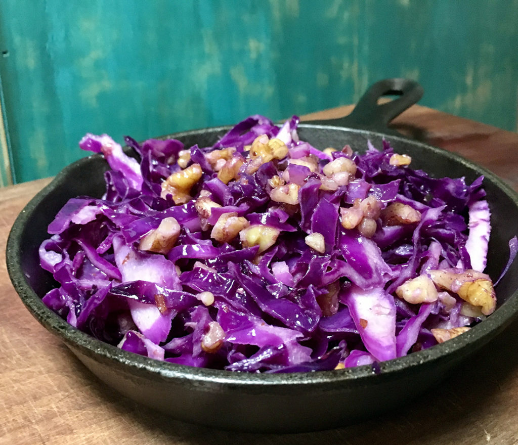 Purple Cabbage with Walnuts