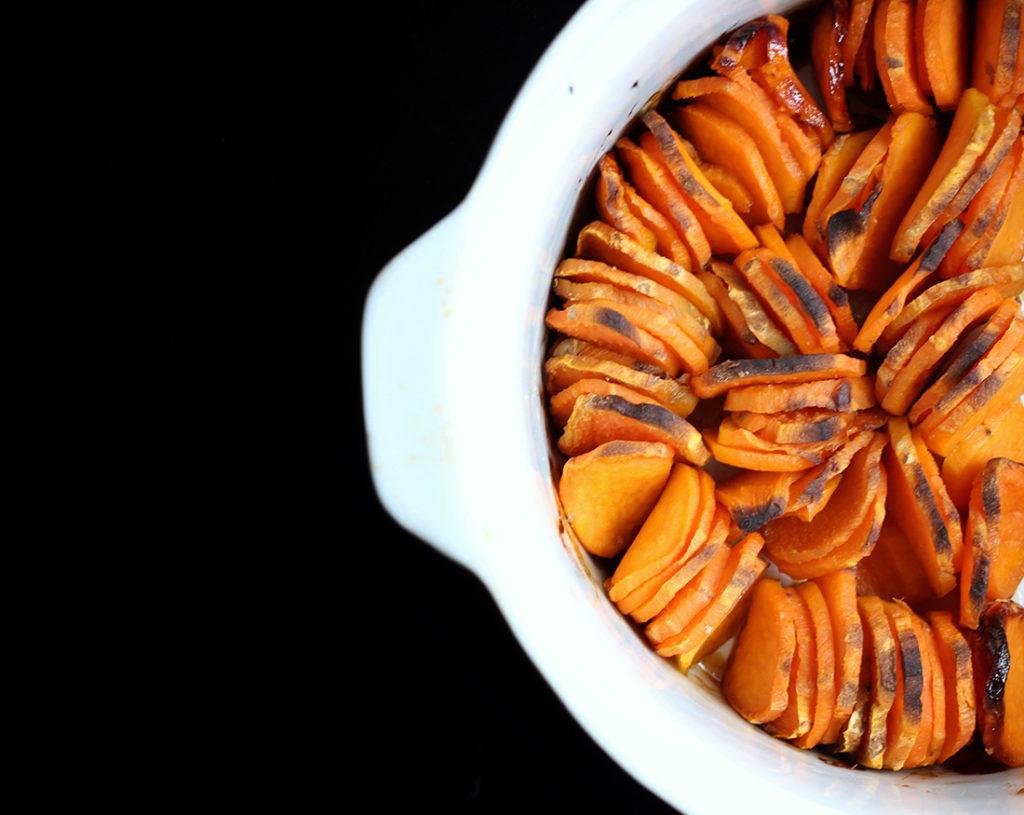 Scalloped Maple Sweet Potatoes