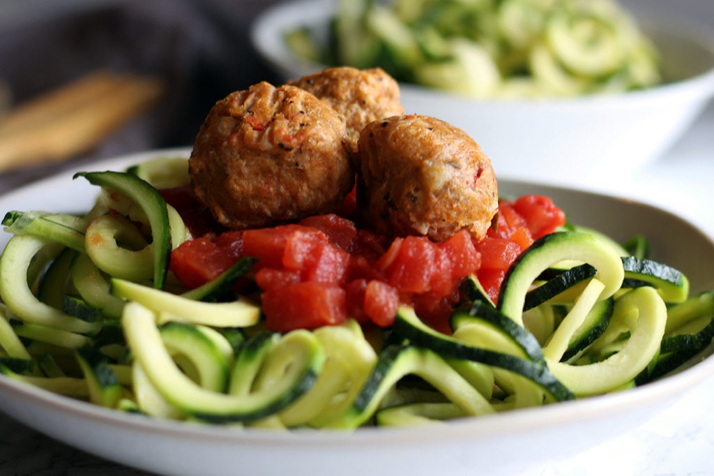 Zoodles and Italian Meatballs 2