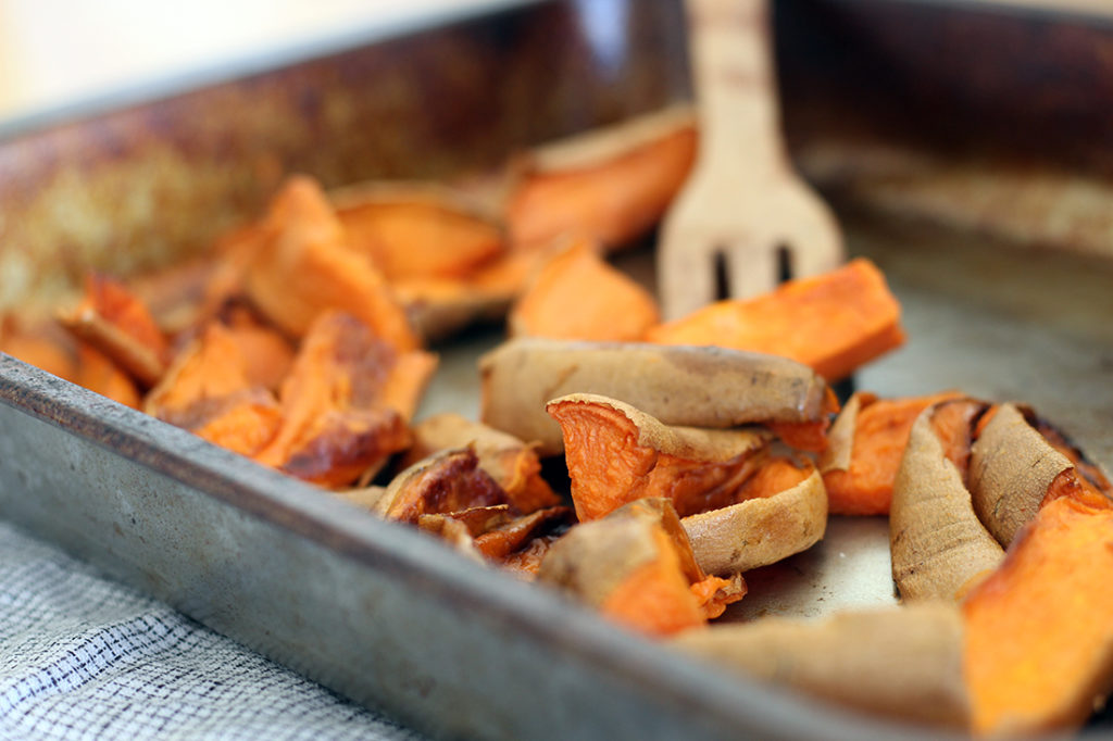 roasted sweet tater wedges