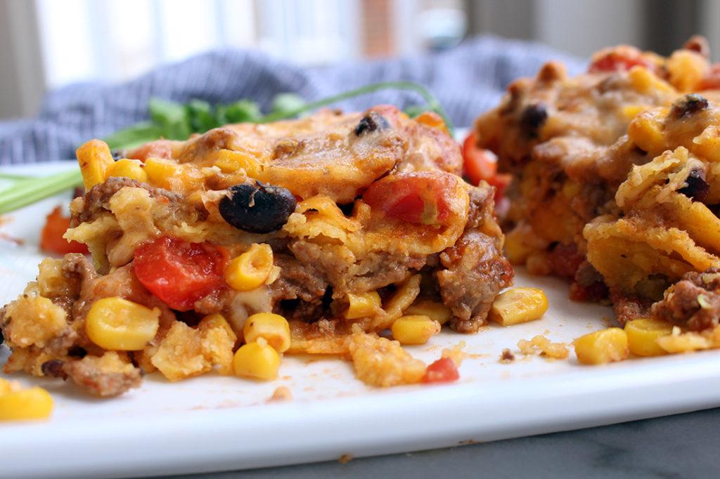 layered taco casserole 2